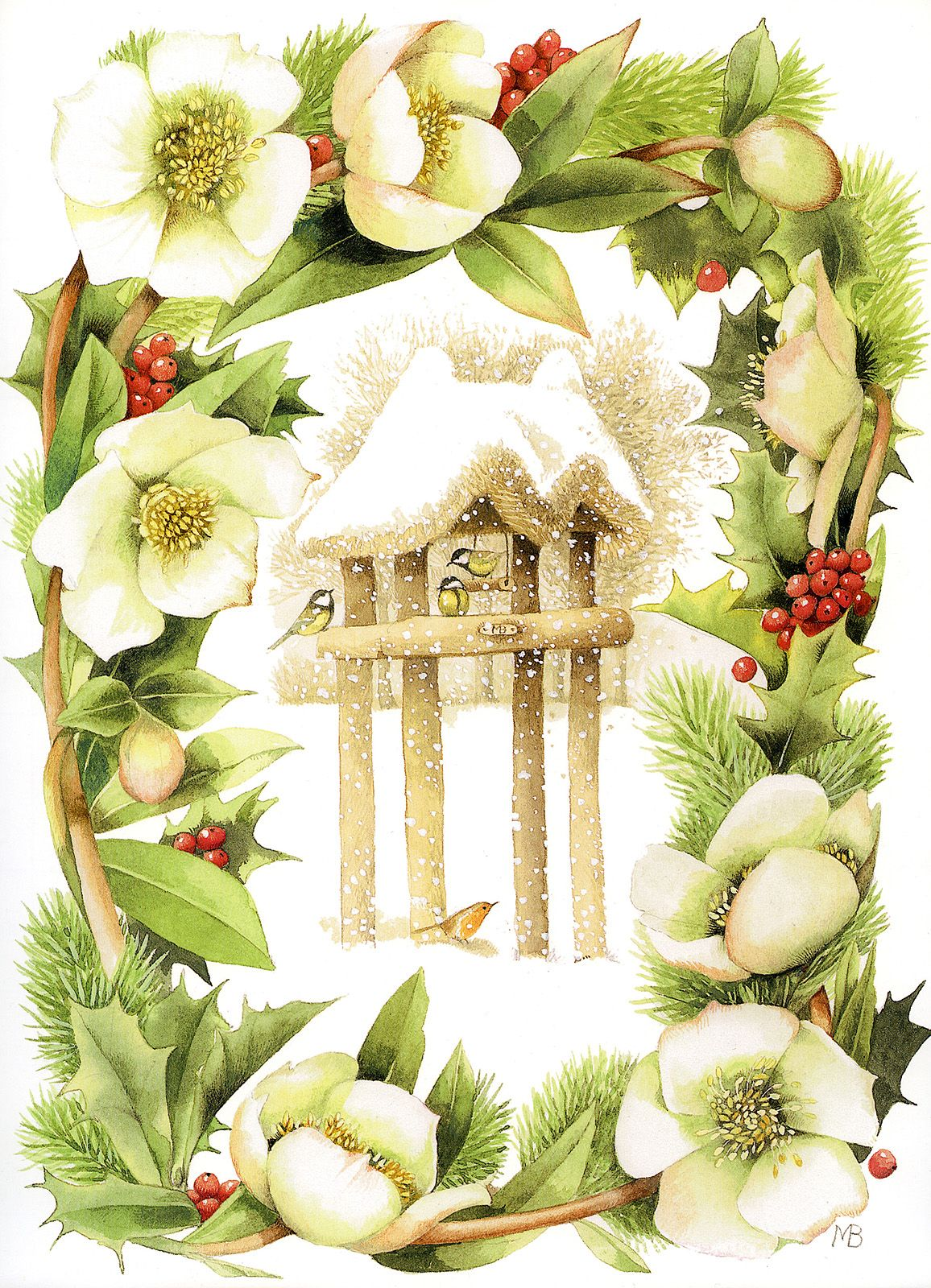 Marjolein bastincal0912g 11561600 clipart pinterest feathered friends at christmas by marjolein bastin m4hsunfo Images