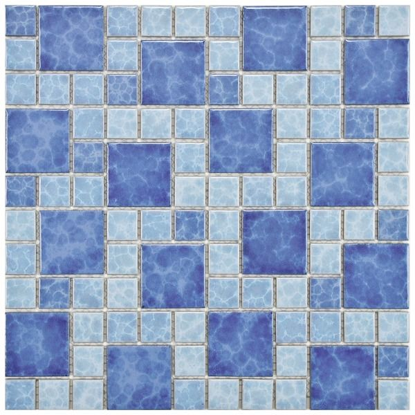 Somertile 11 75x11 75 Inch Watermark Versailles Adriatic Porcelain Mosaic Floor And Wall Tile 10 Tiles 9 6 Sqft