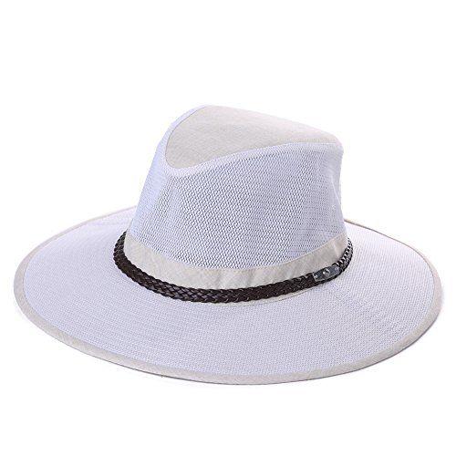 1ee2e841e52d5 UPF 50+ Crushable Mesh Breezer Safari Sun Hat Chin Strap Wide Brim Fishing  Hiking Walking