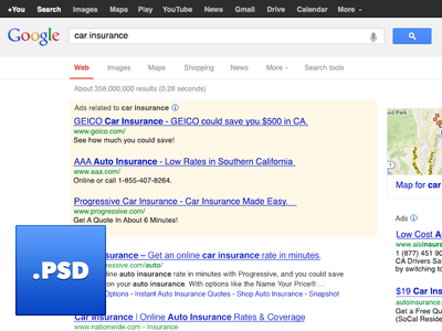Google Search Engine Results Page Psd Google Search Page Youtube News Search Engine