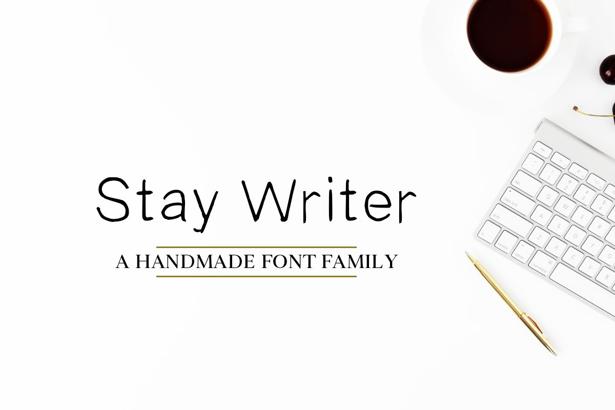 Download Free Stay Writer Handmade 2 Fonts Family Pack ...