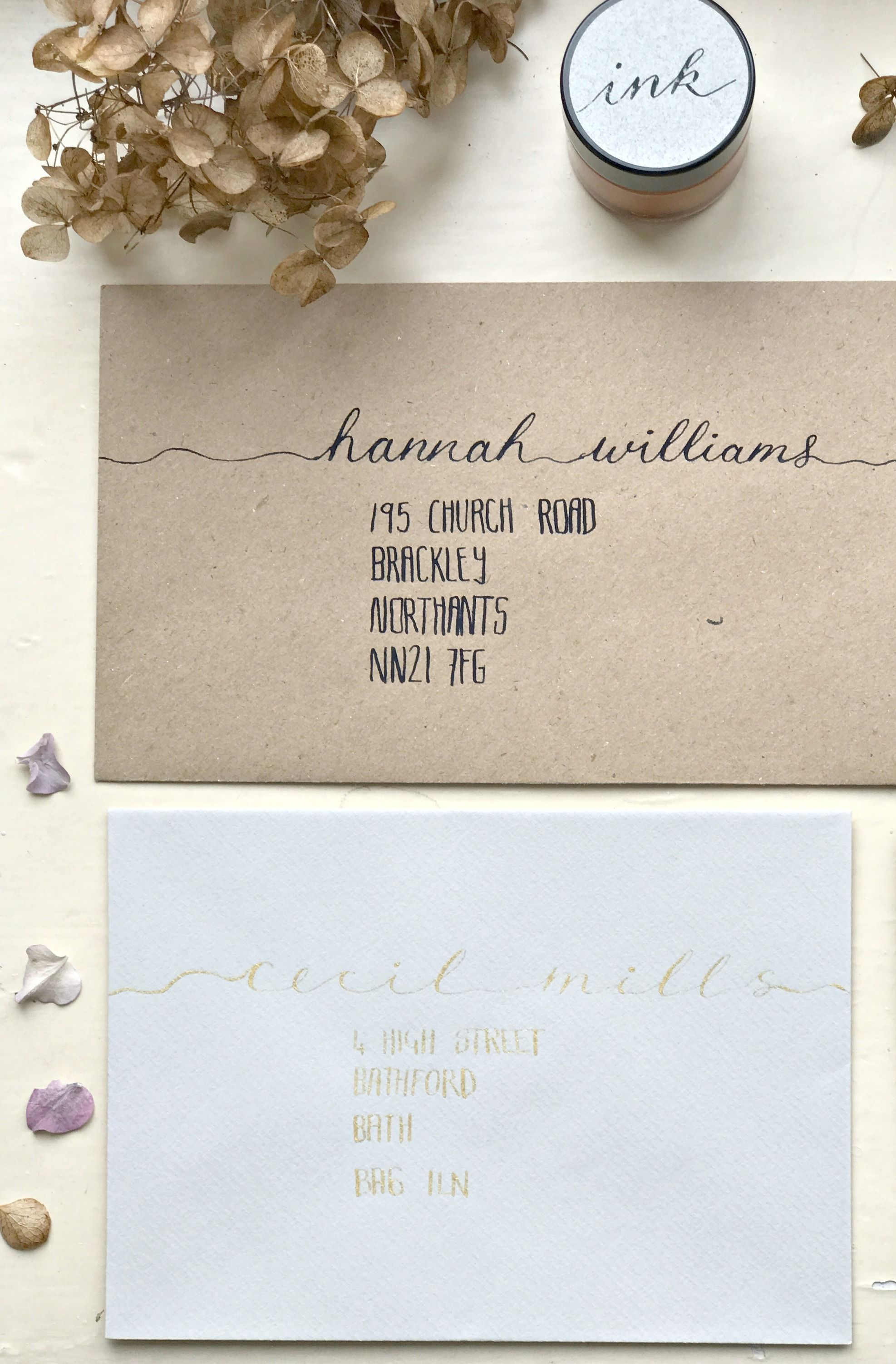 Envelope Addressing, Personalised Wedding Invitations, Elegant ...