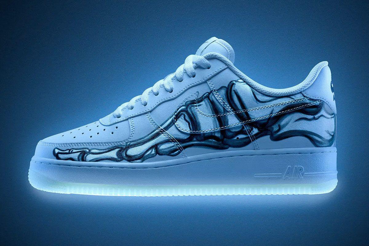 418da4e325c240 Nike traz novo Air Force 1 Skeleton que brilha no escuro | Shoes ...