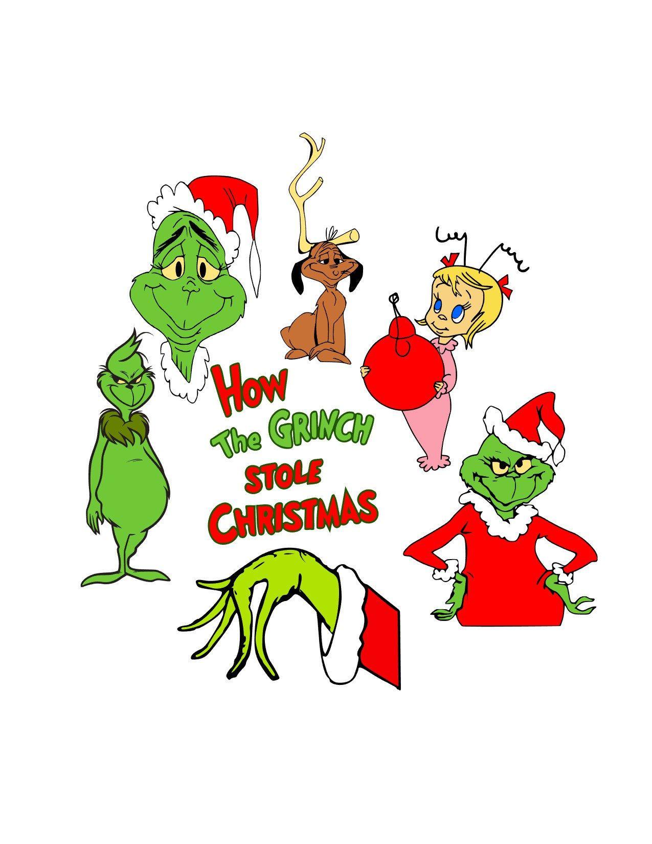 Grinch svg, christmas svg, cindy lou hoo svg, santa svg