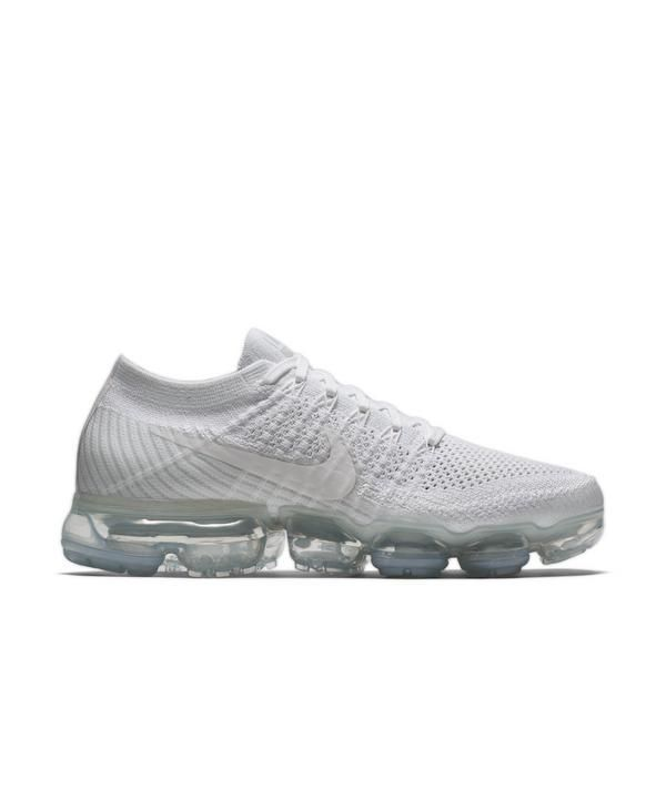 d35691126db Nike Air VaporMax Flyknit White Womens Running Shoe - Main Container Image 1