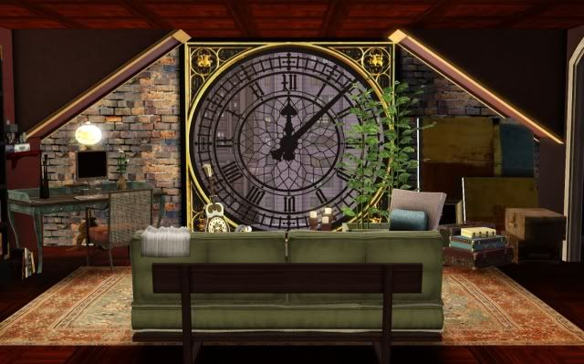Sims 3 clock face window