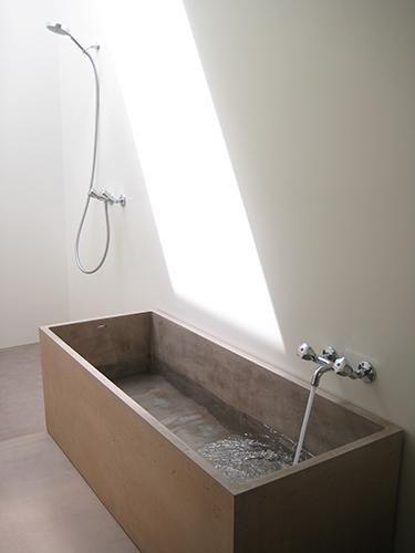Sonderanfertigung Beton, Badewanne, Btob Architekten