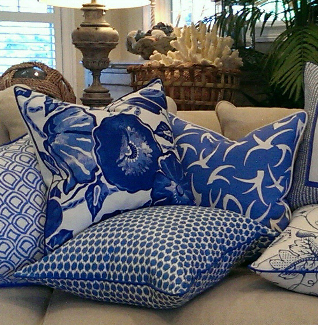 Cojines Decorativos Azules Malibu Collection Azul Sus Tonos Y Mas