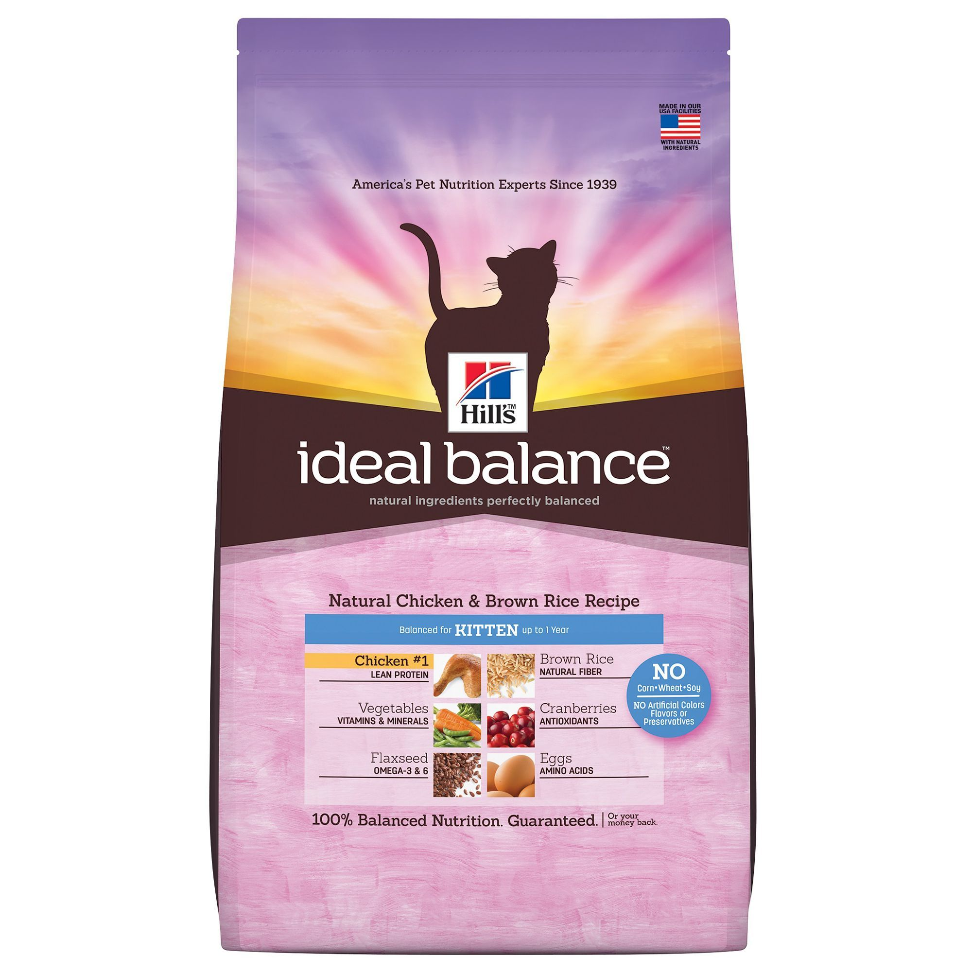 Hill's Ideal Balance, Kitten Food Natural, Chicken and