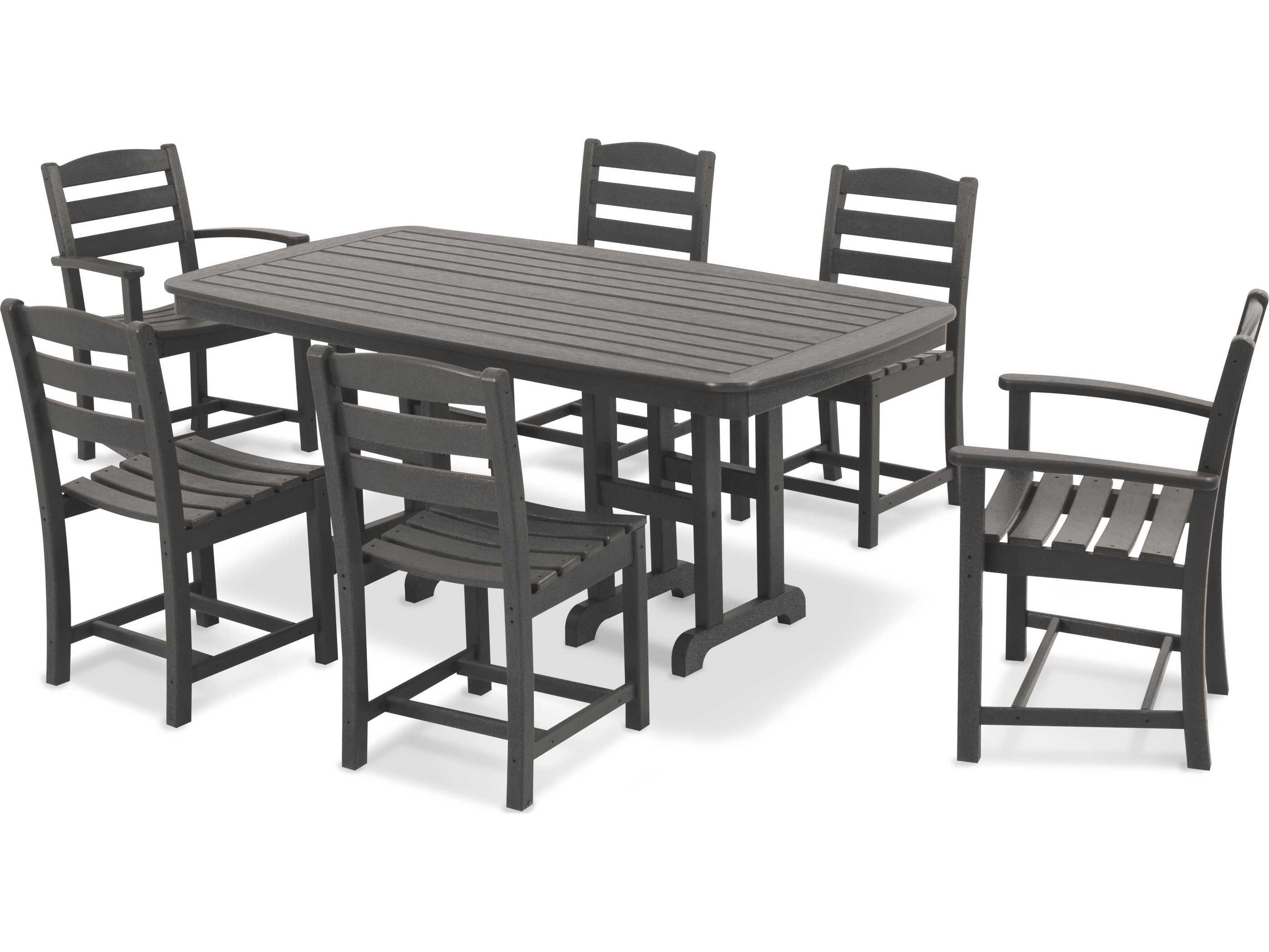 Polywood La Casa Cafe Recycled Plastic 7 Piece Dining Set Trex