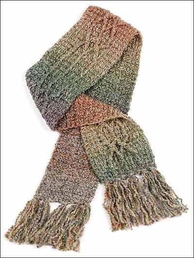 Crochet Accessories - Crochet Scarf Patterns - Braided Cable Scarf ...