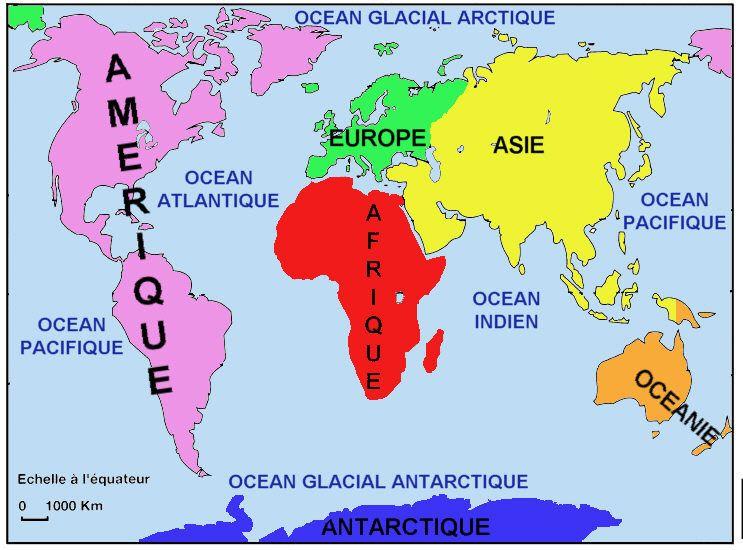 Continent Ocean P Jpg 743 550 Carte Des Continents Les