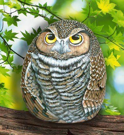 owl rock by Ernestina Gattina