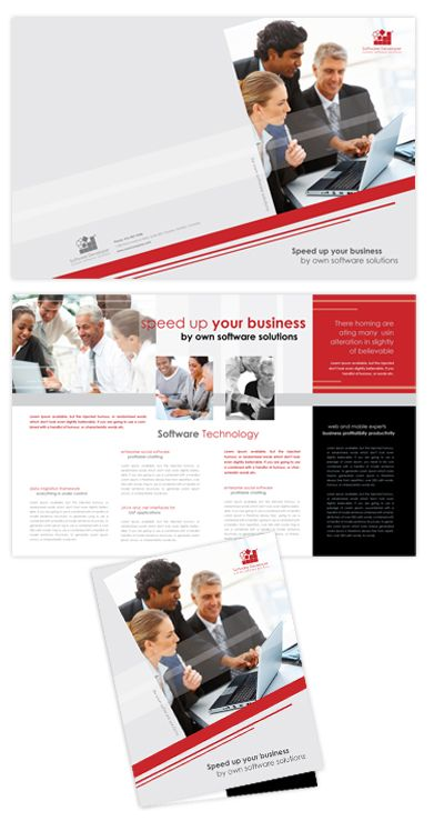 Software Solutions Brochure Template Design Brochure Layout