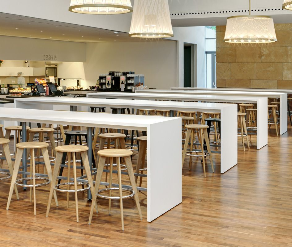 High Top Communal Tables Cafeteria Design