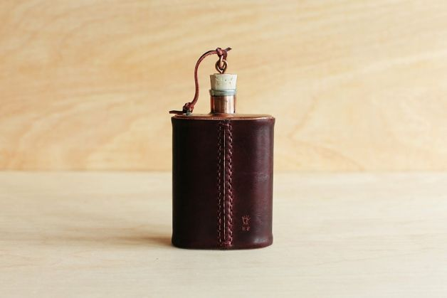 The Jacob Bromwell Great American Flask is a pure copper flask that is made using techniques that date to the 19th century. $195. Photo: Winter Session