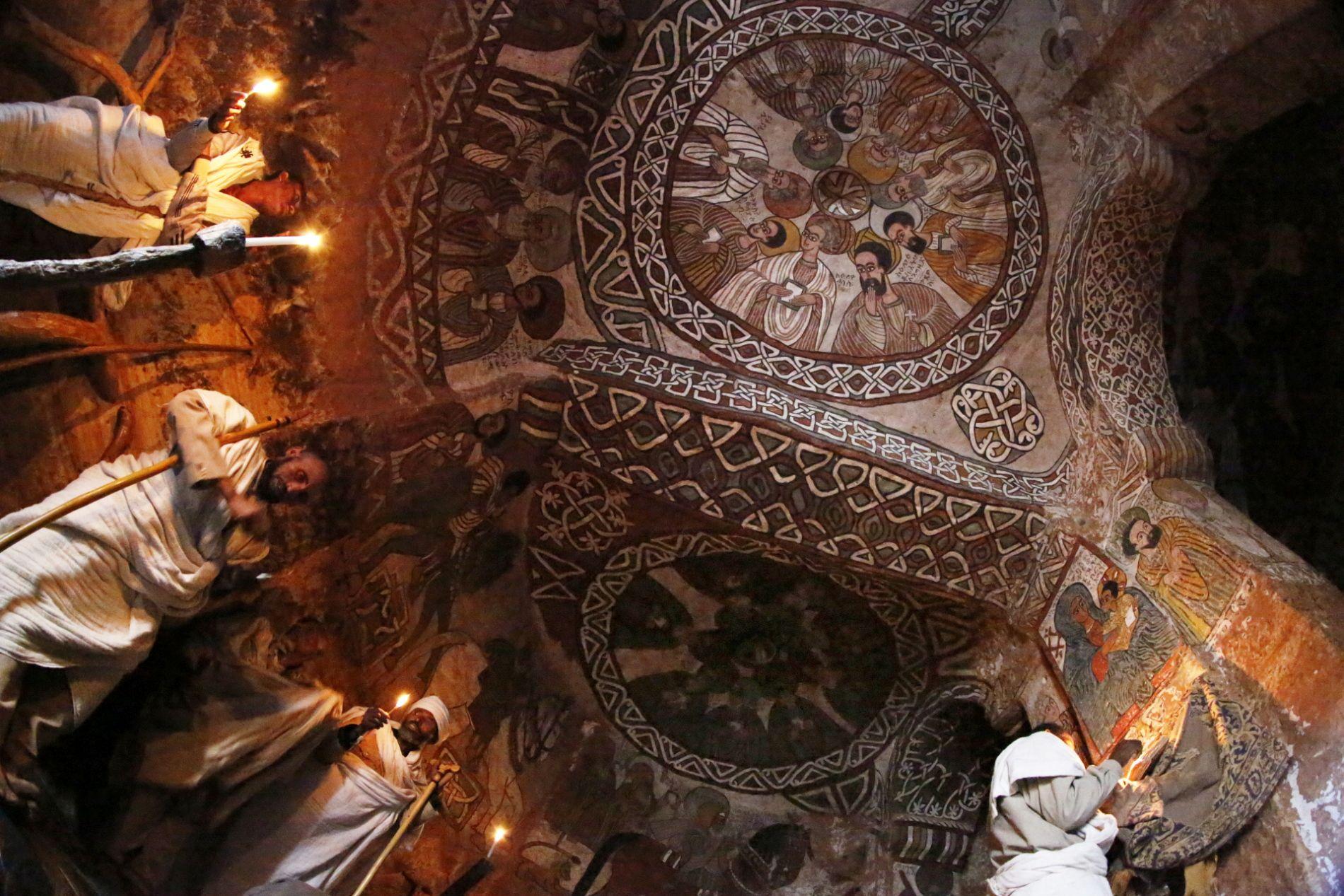 Rock´s Church Ceiling, Hawzen in Ethiopia by Kazuyohi Nomachi: