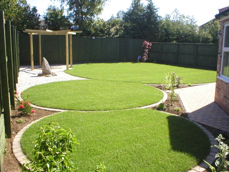 a totally new garden creating an interesting circular designed garden from a square and boring one
