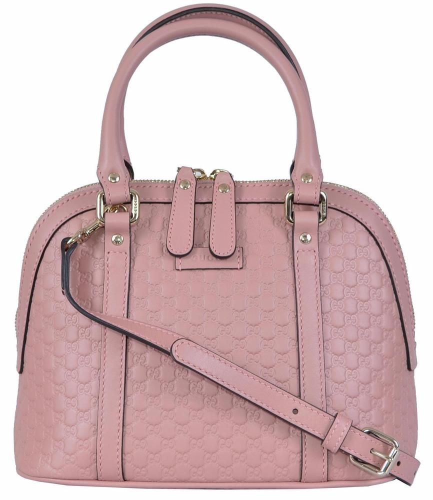 4f2cab446253 NEW Gucci 449654 $995 Micro GG Soft Pink Leather Convertible Mini Dome Purse  #Gucci #Satchel