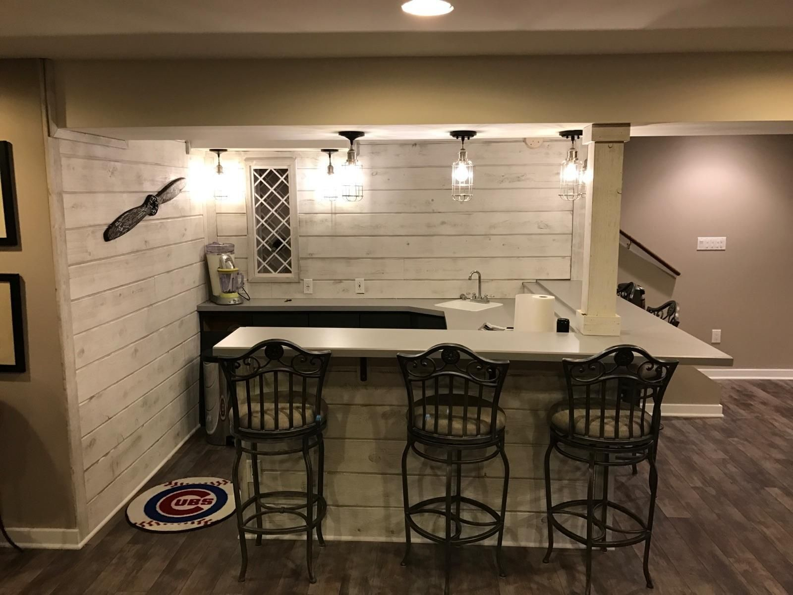 Easy Barnwood In Traditional White Basement Bar Great American Spaces