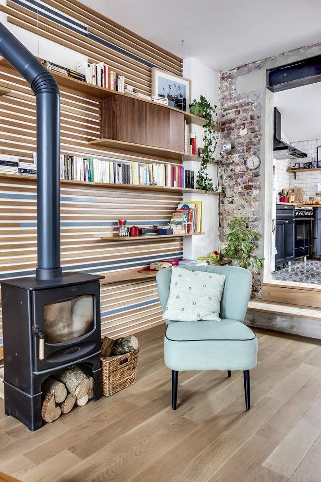 Idees Deco Mur Salon Campagne Salon With Lames De Bois | Idées