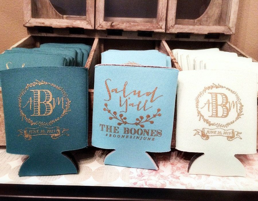 New To SipHipHooray On Etsy Personalized Koozies Wedding Monogrammed Cheers Yall