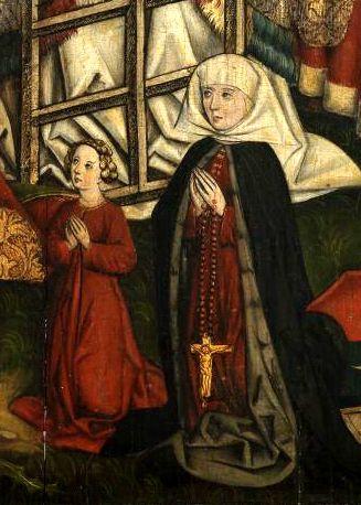Epitaph der Ursula Haller, Christus als Schmerzensmann mit Heiligen, nach 1482, Nürnberg 1
