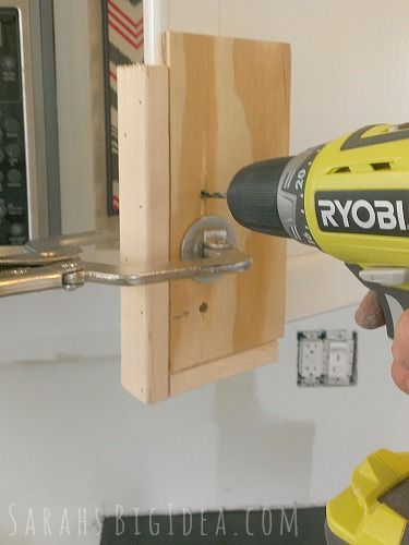 create a jig for making holes in cabinet door...easy to do, will make the kitchen project easieer too!