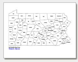 Pa State Map With Counties And Cities.Downloadable And Printable State Maps County Outline City