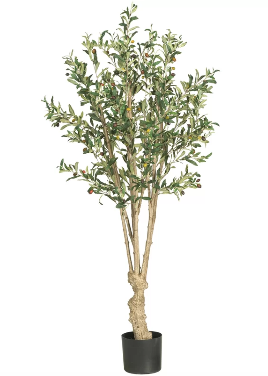 The Best Affordable Fake Plants For Those Of Us Who Just Can T With Watering Faux Olive Tree Potted Trees Artificial Plants