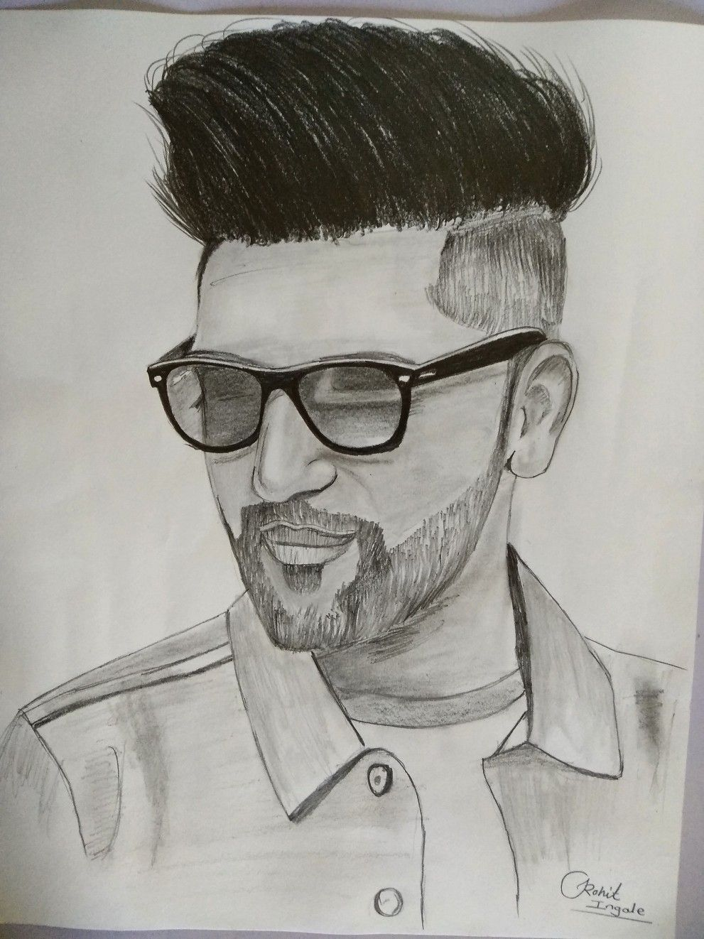 Sketch of guru randhawa love drawings art drawings drawing sketches drawing ideas