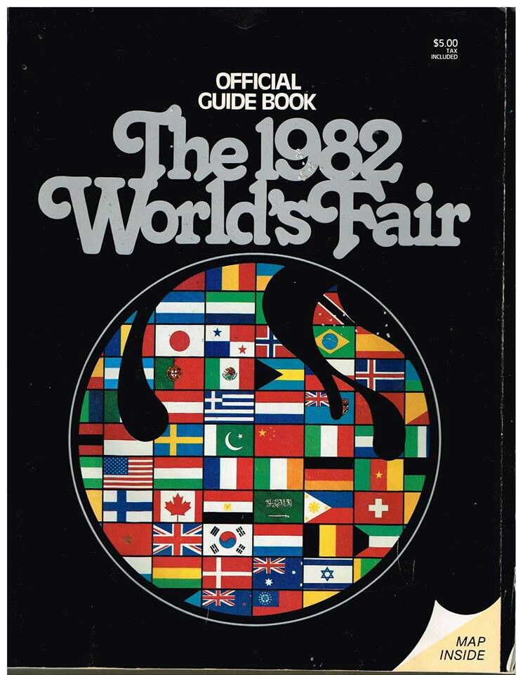 1982 worlds fair official guide book program knoxville tennessee booklet