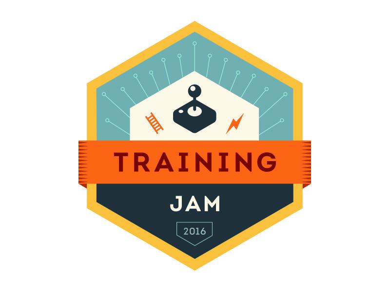 Training Jam Logo (Color) by Joanna Ellis