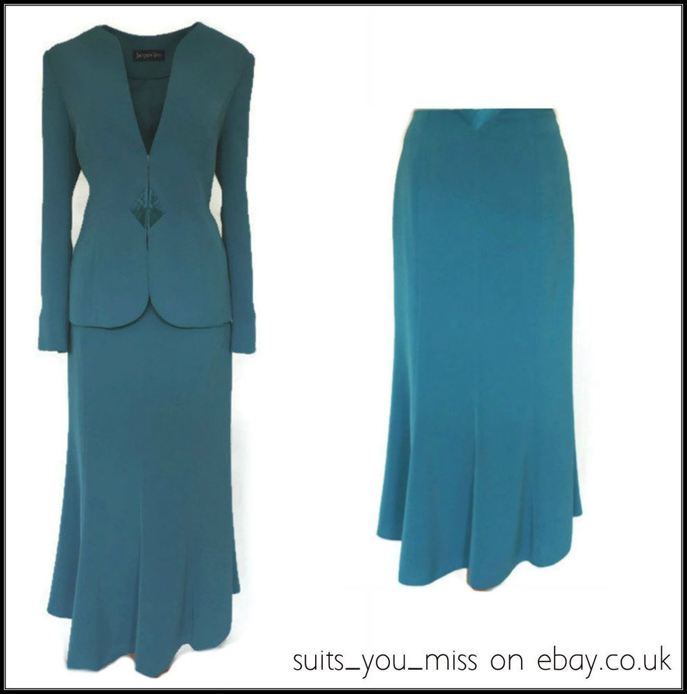 LADIES WOMENS JACQUES VERT SKIRT SUIT MOTB WEDDING RACES CRUISE UK ...