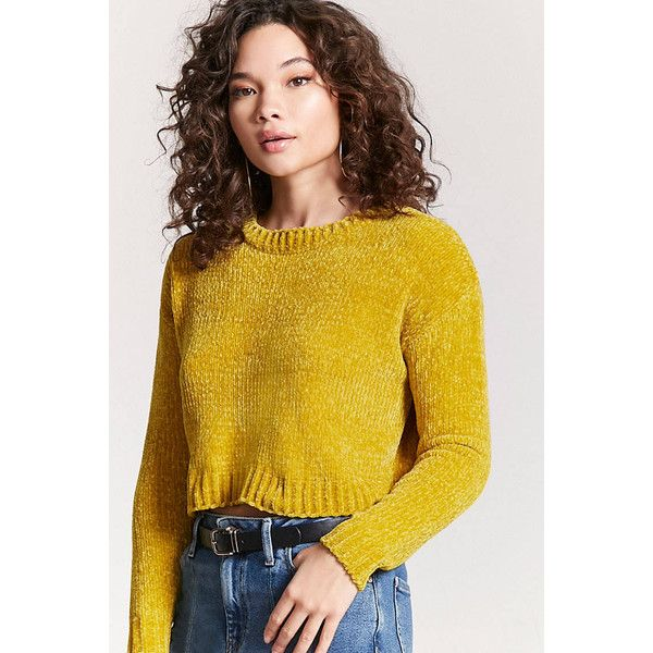 aadc3570b957d5 Forever21 Chenille Knit Sweater (€17) ❤ liked on Polyvore featuring tops