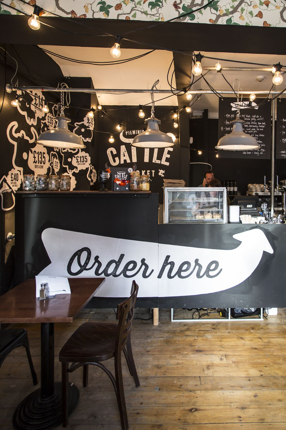 pop up pie & mash shop in 21-22 chalk farm road, camden, london
