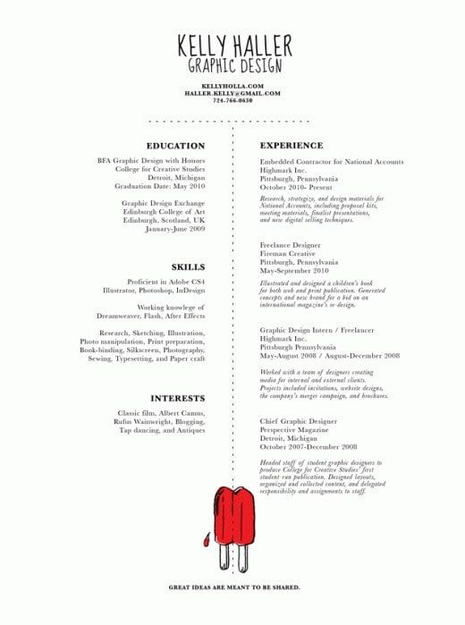 27 Beautiful Résumé Designs You\u0027ll Want To Steal Sample resume
