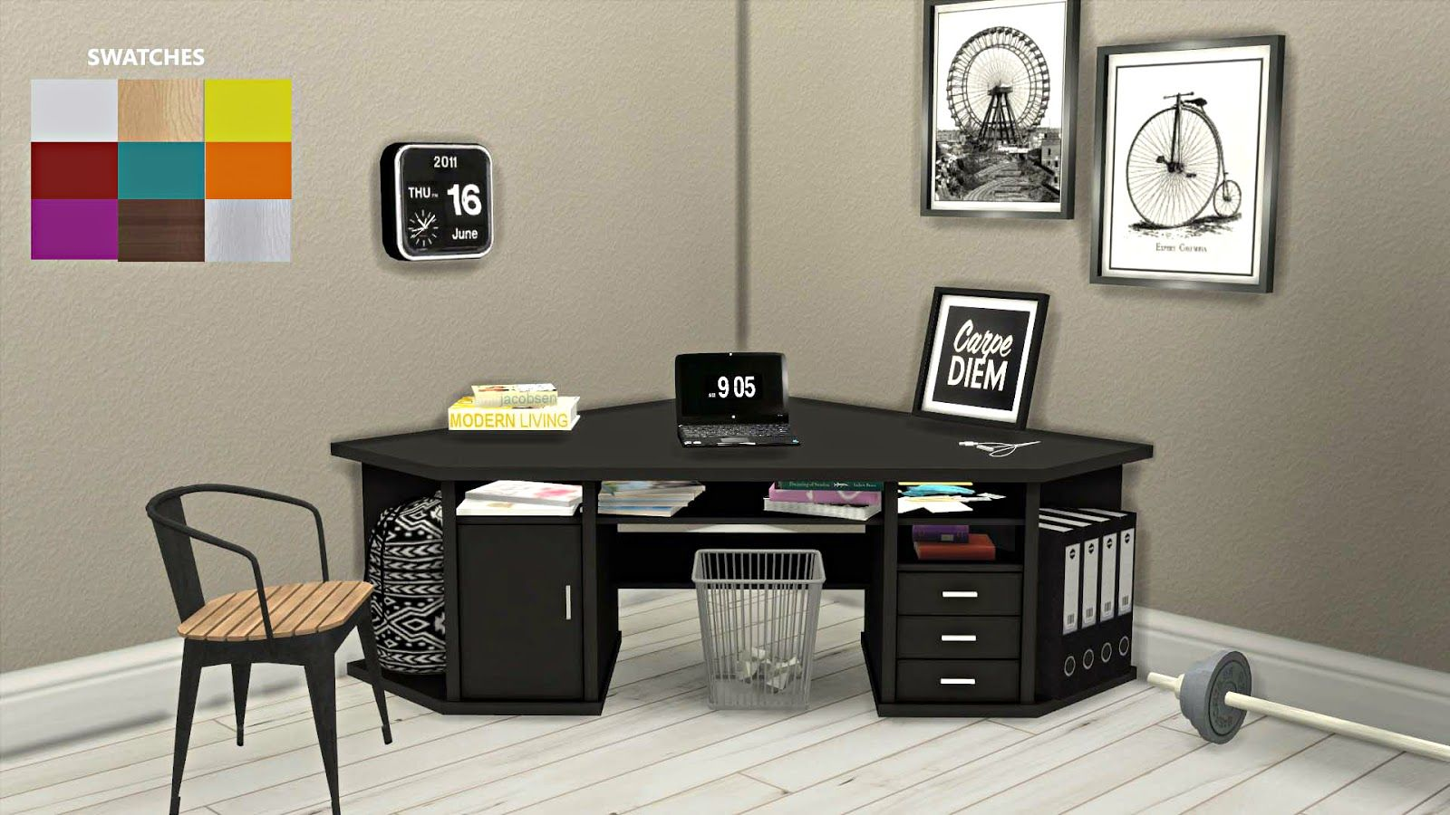 Cc for sims 4 corner desk