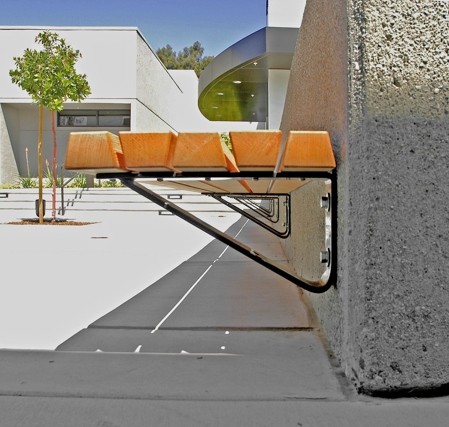 Concrete Seat Walls And Bench Seat Wall Design Wall Top Mounting Specify 2145 Bench Concrete Design In 2020 Wall Seating Outdoor Bench Seating Garden Seating