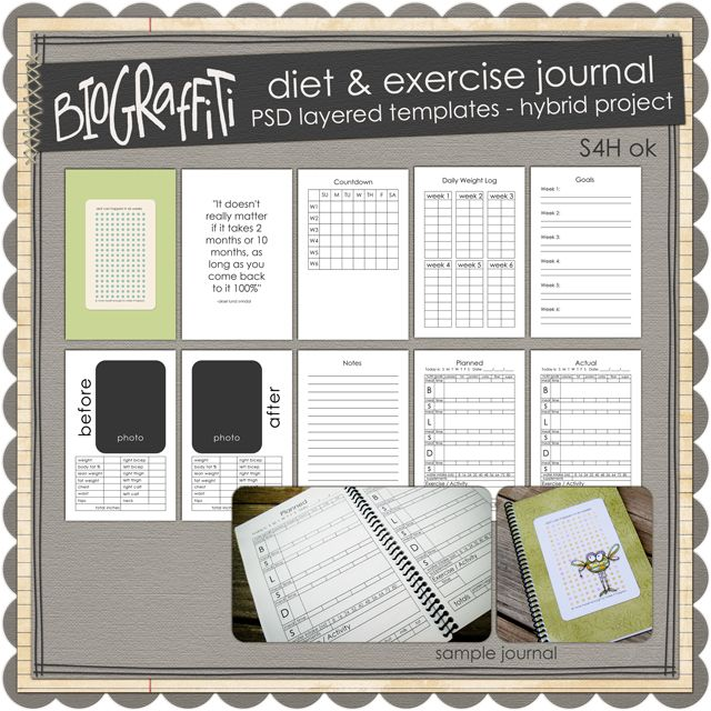 Diet  Exercise Journalhmm, a cute diet journal?! I could use this