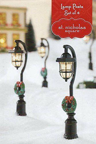 Light Up Holiday Lamp Posts SNS Gazette Christmas Village Accessory - Set of 4 St. Nicholas Square http://www.amazon.com/dp/B00PO8WWVI/ref=cm_sw_r_pi_dp_.3ENub0P3YTZ7
