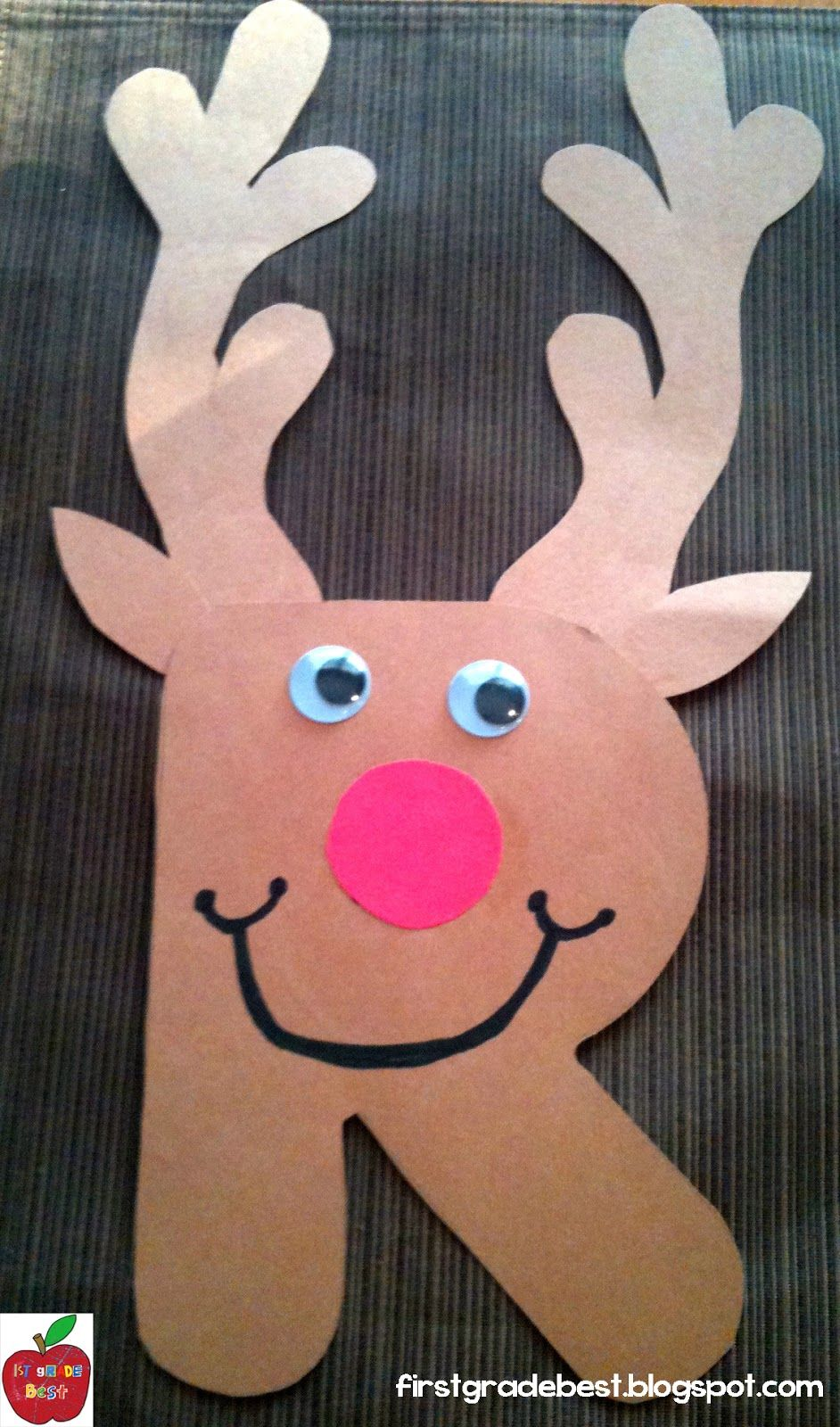 Christmas kids craft make a rudolph the red nosed for Reindeer project
