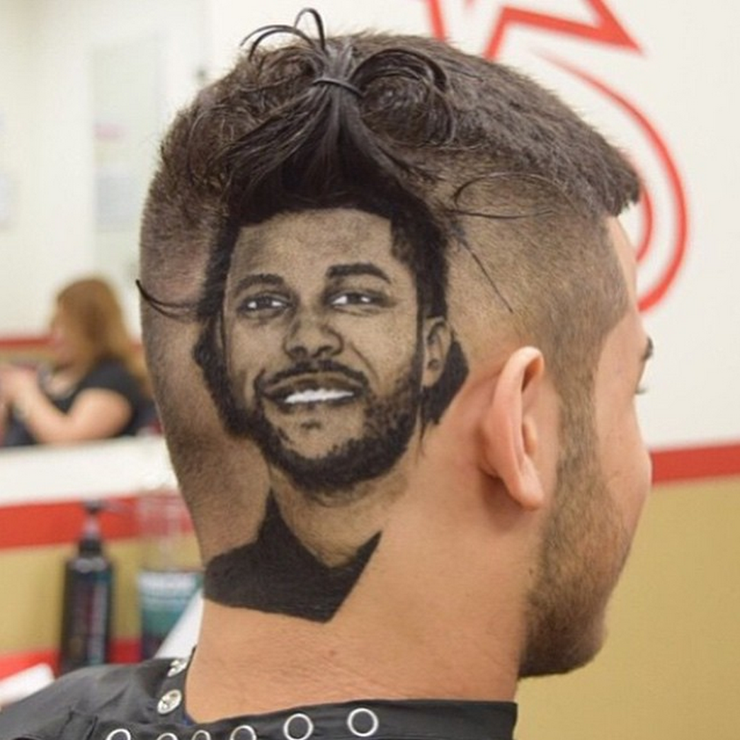 The Weeknd Artistic Hair Braided Beard Hair Tattoos