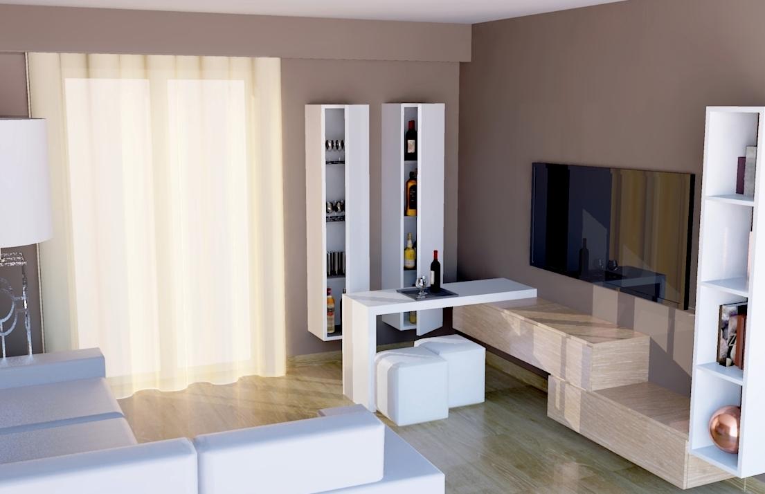 nel soggiorno si può ritagliare una zona multifunzione da adibire ... - Mobili Bar Moderni Per Casa