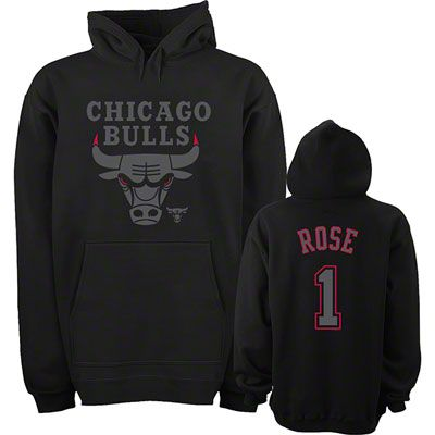 reputable site 5b211 9c341 Derrick Rose Chicago Bulls Youth Black Out Name & Number ...