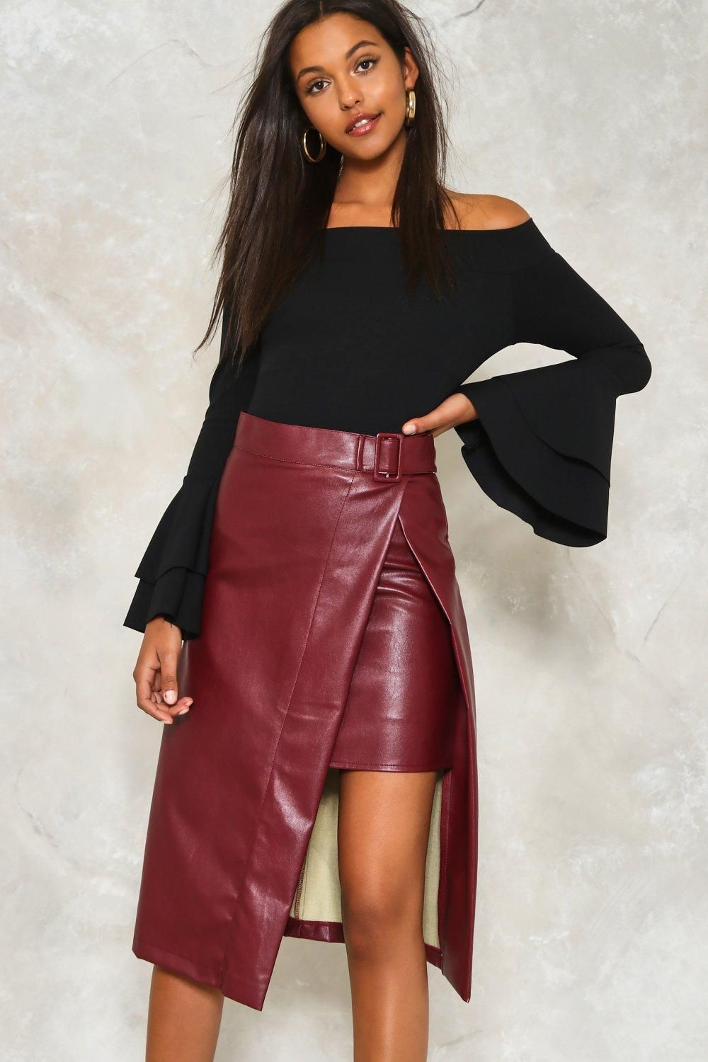 7ec8658b65 Take It Up With Me Faux Leather Skirt | Shop Clothes at Nasty Gal ...