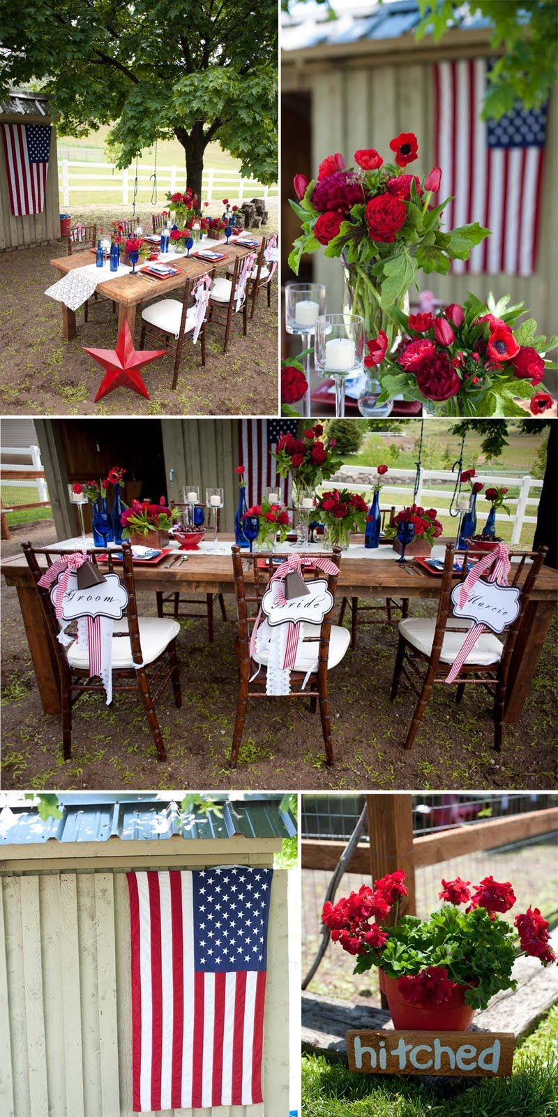 Red White Blue Wedding Or Just Ideas For A Party Sharing In