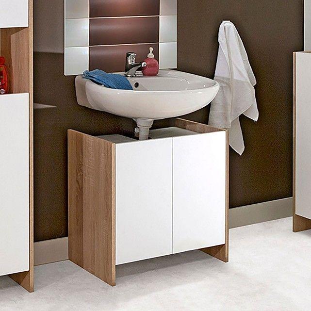 Meuble sous-lavabo, 2 portes, Banero Pinterest Toilet