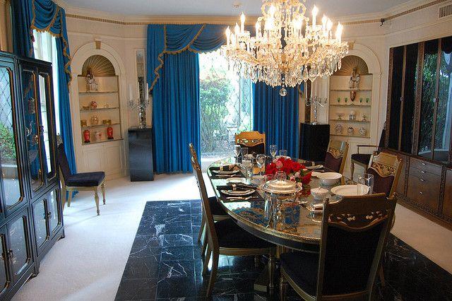 Elvispresley'sbedroomatgraceland  Elvis Presley's Dining Room Endearing Mansion Dining Rooms Design Decoration