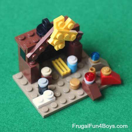 pesebre con piezas de lego diy #christmas #decorations #crafts #diy #pesebre #nativity #navidad #decoracion #manualidades #lego #toys